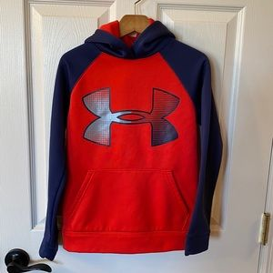 Under Armour Navy & Red Storm Hoodie